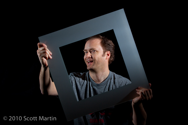 self portrait with picture frame