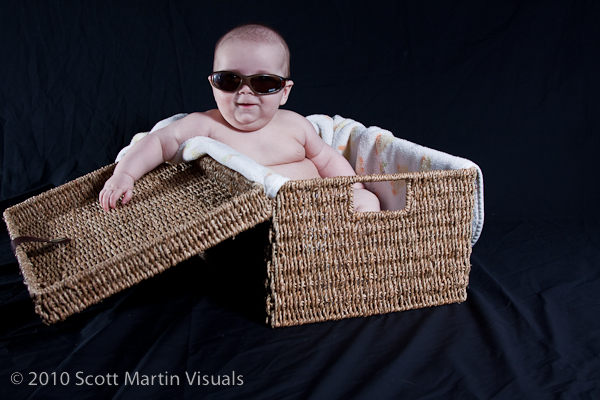 Nathan's first photo shoot