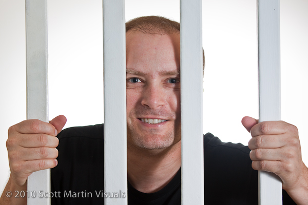 self portrait behind bars