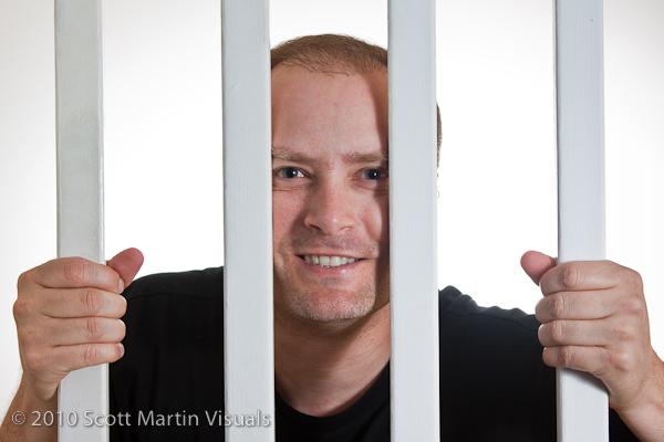 self portrait behind bars